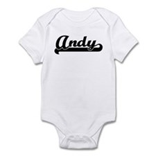 Black jersey: Andy Infant Bodysuit