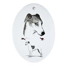 running dog Oval Ornament