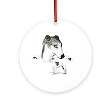 running dog Ornament (Round)