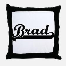 Black jersey: Brad Throw Pillow