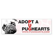 Adopt a Pughearts Pug Bumper Sticker