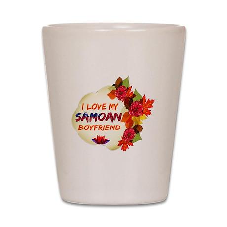 Samoan Boyfriend designs Shot Glass