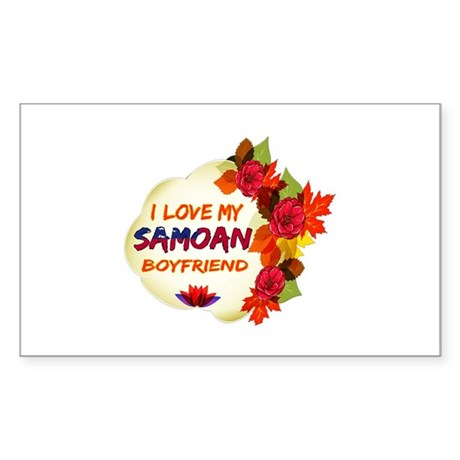 Samoan Boyfriend designs Sticker (Rectangle)