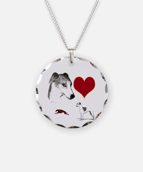 whippet valentine Necklace