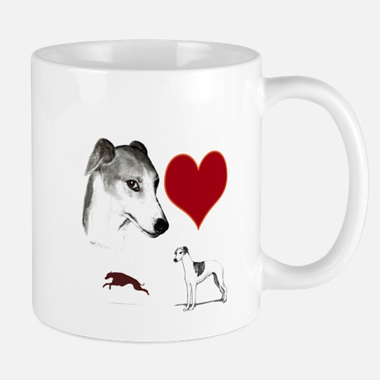 whippet valentine Mug