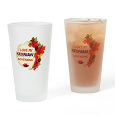 Serbian Boyfriend designs Drinking Glass