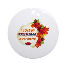 Serbian Boyfriend designs Ornament (Round)