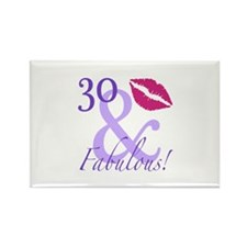 30 And Fabulous! Rectangle Magnet