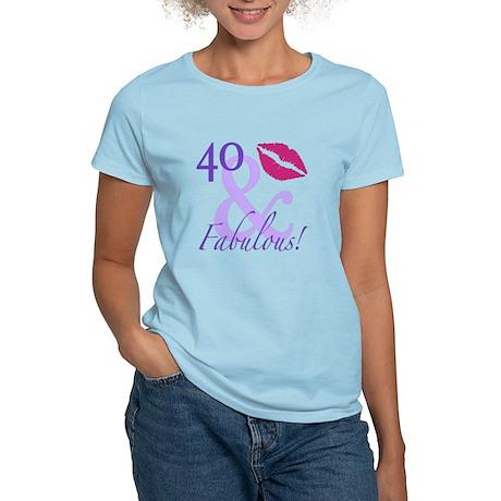 40 And Fabulous! Women's Light T-Shirt