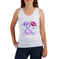 40 And Fabulous! Women's Tank Top