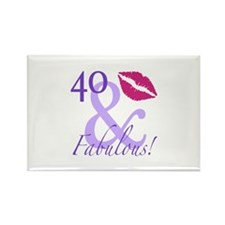 40 And Fabulous! Rectangle Magnet