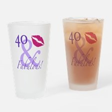 40 And Fabulous! Drinking Glass