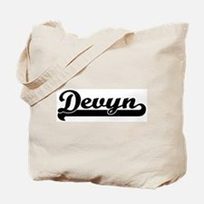 Black jersey: Devyn Tote Bag