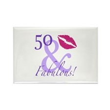 50 And Fabulous! Rectangle Magnet