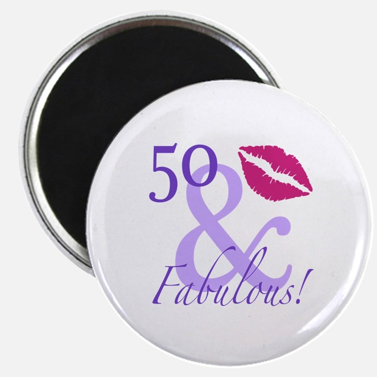 50 And Fabulous! Magnet