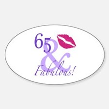 65 And Fabulous! Decal
