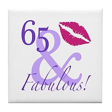 65 And Fabulous! Tile Coaster