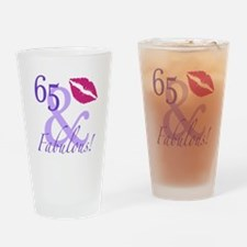 65 And Fabulous! Drinking Glass