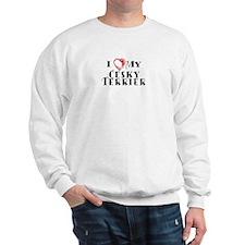 I Heart My Cesky Terrier Sweatshirt