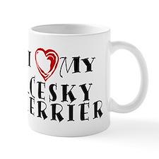 I Heart My Cesky Terrier Mug