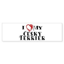 I Heart My Cesky Terrier Bumper Sticker