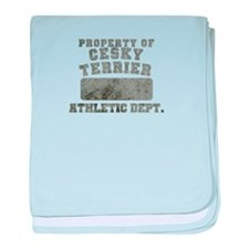 Property of Cesky Terrier baby blanket