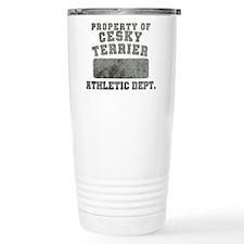 Property of Cesky Terrier Travel Mug