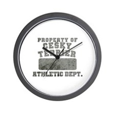 Property of Cesky Terrier Wall Clock