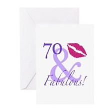 70 And Fabulous! Greeting Cards (Pk of 10)