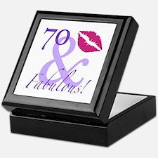 70 And Fabulous! Keepsake Box