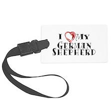 I Heart My German Shepherd Luggage Tag