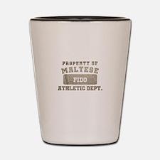 Personalized Maltese Shot Glass