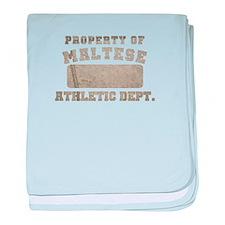 Property of Maltese baby blanket