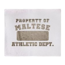 Property of Maltese Throw Blanket
