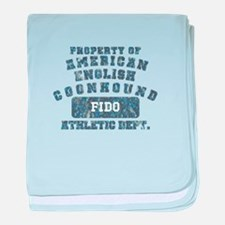 Property of Am. English Coonhound baby blanket