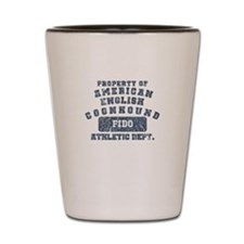 Property of Am. English Coonhound Shot Glass