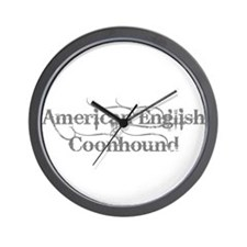 American English Coonhound Wall Clock