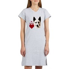 canaan dog valentine Women's Nightshirt