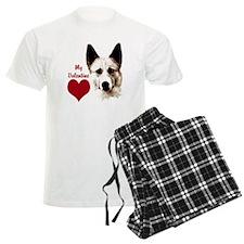canaan dog valentine pajamas