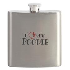 I Heart My Poodle Flask