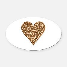 I Love Giraffes Oval Car Magnet