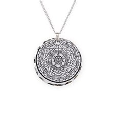 John Dee Heptagon Necklace Circle Charm