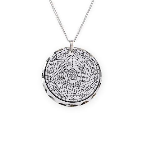 John Dee Heptagon Necklace Circle Charm