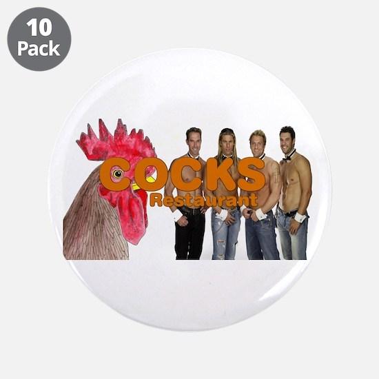 "Cocks Restaurant 3.5"" Button (10 pack)"