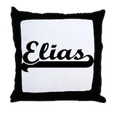 Black jersey: Elias Throw Pillow