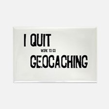 I Quit Geocaching Rectangle Magnet