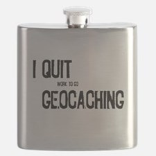 I Quit Geocaching Flask