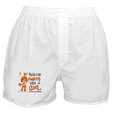 Fights Like a Girl 42.9 Leukemia Boxer Shorts