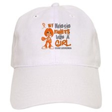 Fights Like a Girl 42.9 Leukemia Baseball Cap