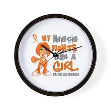 Fights Like a Girl 42.9 Leukemia Wall Clock